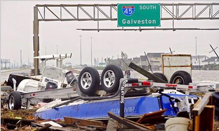 [ PHOTOS ] Le Texas déclaré zone sinistrée après le passage de Ike
