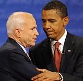 Débat télévisé Obama - McCain : le démocracte semble l'emporter