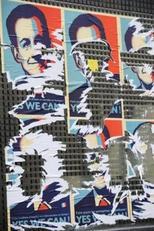 FRANCE: Des portraits de Sarkozy dans Paris détournent la campagne d'Obama