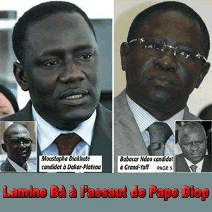 LE PDS IMPLOSE A DAKAR: Lamine Ba à l'assaut de Pape Diop