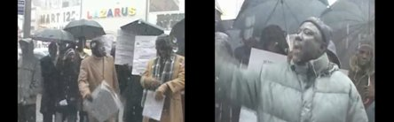[ VIDEO ] MACKY SALL AUX USA : Manifestation des membres de l'APR YAKAAR sous la neige de New York