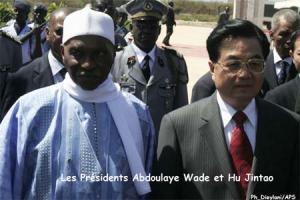 Arrivée du président Hu Jintao à Dakar