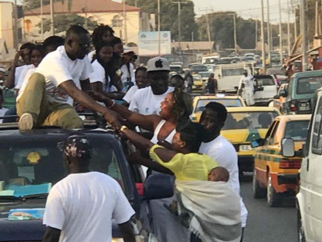 21 22 23 AVRIL, L' accueille de Pape Diouf en Gambie