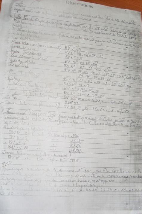 Résultats des locales à Mbacké: Un document compromet la victoire de la coalition sopi.