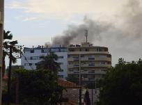 L'ancien immeuble de filifili abritant des banques et la Direction de passation des marchés du ministère de l'Economie et des Finances prend feu
