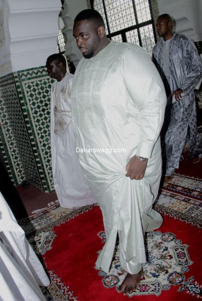 PHOTOS - Grande Mosquée : Les deux fils de Macky Sall , Ibrahima et Amadou Sall à la prière de la Korité