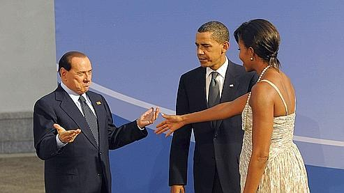 Michelle Obama garde ses distances avec Berlusconi