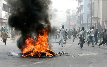Des échauffourées sur la route de Ouakam