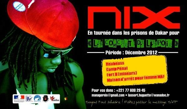 Nix en tournée dans les prisons de Dakar en décembre 2012