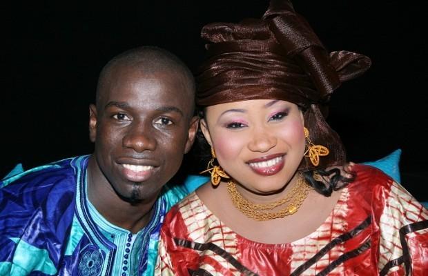 Djiby Dramé et Maman chérie un couple heureux