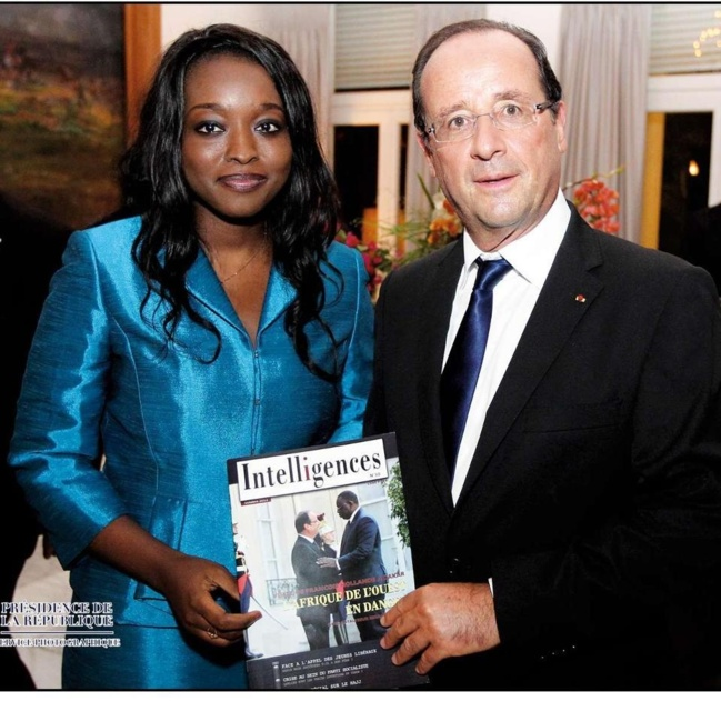 Amy Sarr Fall, Directrice d'Intelligences Magazine et François Hollande