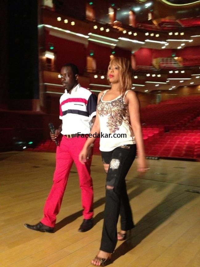 Viviane Chidid et Dj Boubs sur la scène du Grand théâtre
