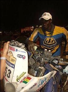 Rallye Dakar 2008 : Le motard Alioune Sarr toujours dans l'expectative