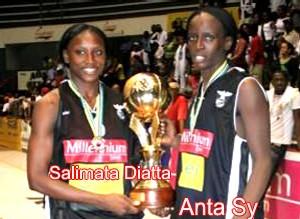 Salimata Diatta et Anta Sy championnes d'Afrique avec le Desportivo basketball club