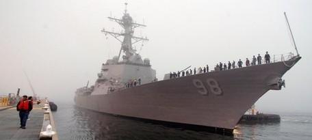 Un navire de guerre américain à Dakar