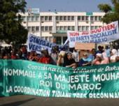 Manifestation en faveur du Maroc devant le siège du PS à Dakar