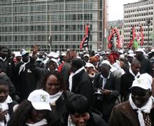 MANIF' ANTI-APE DES AFRICAINS A BRUXELLES : LE REFUS DE LA PHAGOCYTOSE ECONOMIQUE