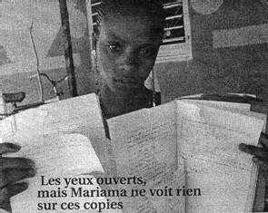 POUR AVOIR REFUSE UN MARIAGE FORCE: La collégienne Mariama baldé perd la vue devant ses copies