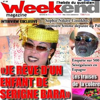 APRES UNE INTERVIEW DE LA FEMME DU KHALIF GENERAL DES MOURIDES DANS LE ''WEEK-END'': Madiambal Diagne recoit des menaces de mort