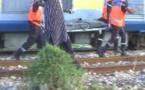 Guinaw rails : Un train de déchiqueté une femme