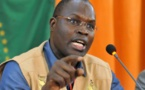 Conférence de presse dans les locaux de la mairie de la Médina: Khalifa Sall, porte-parole de Bamba Fall