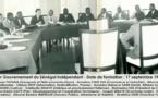 Voici le premier gourvernement du Senegal: Valdiodio Ndiaye, Andre Peytavin, Mamadou Dia etc...