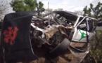 Grave accident à Alou Kagne, le chauffeur essayait de doubler un bus. Regardez