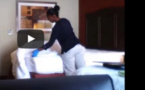 VIDEO.Une femme de ménage prise en flagrant délit dans une chambre d'hôtel