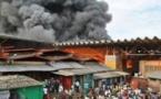 Incendie au marché central de Thiès : Plusieurs millions partent en fumée