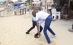 (Vidéo) Le combat de lutte entre Bouba Ndour contre Saga Love. A mourir de rire