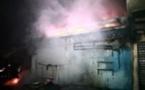 Kaolack : un incendie ravage 17 cantines au Marché Guedj