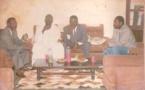 Le président Macky Sall et ses amis, le jour de son mariage