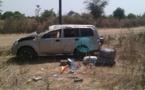 Les images de l'accident qui a failli coûter la vie à Doudou Ndiaye Mengue et sa famille