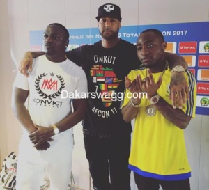 Akon, Booba et Davido complices lors de la cérémonie d'ouverture de la Can Gabon 2017