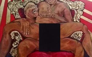 Scandale autour d'une peinture montrant Zuma en train de violer Mandela