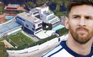 Vidéo : A découvrir la belle Maison de Lionel Messi à Barcelone (Intérieur & Extérieur )