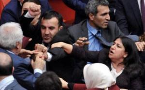 Des coups de poing fusent au parlement turc
