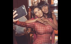 Kim Kardashian et Naomi Campbell : Deux superstars pour un cadeau à North West