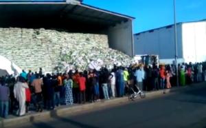 Vidéo- Au moins un mort dans l'effondrement d'un entrepôt à Mbao