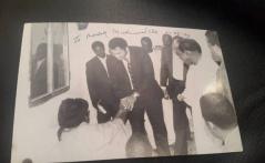 Mohamed Ali reçu par Serigne Abdou Lahat Mbacké à Touba en 1989