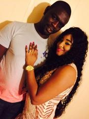 Baboye et sa femme aux etats units